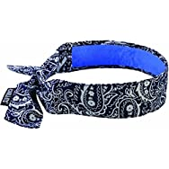 Ergodyne12564Chill-its Evaporative Cooling Bandana-NAVY WESTRN COOL BANDANA