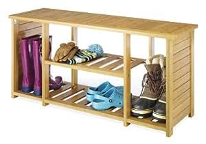 Whitmor 6277-4467-BB Bamboo Storage Bench