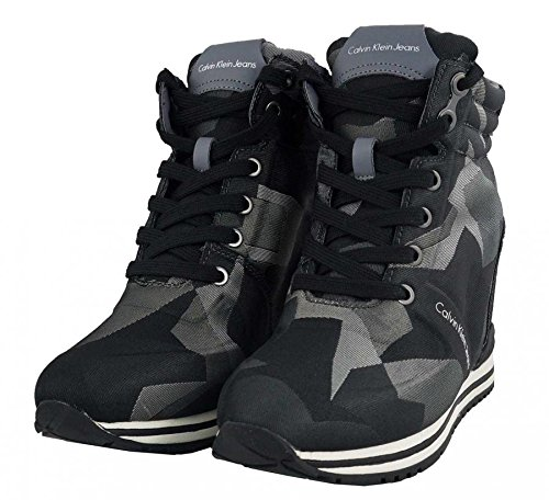 Calvin Klein Jeans - Sneakers - Posy Camouflage Jacquard -Calvin Klein Jeans - R3607 - 36, Dark Grey-Grey