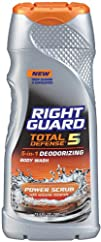 Right Guard Total Defense 5 Body Wash Power Scrub 13.5 Ounce