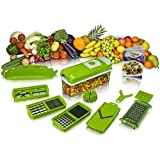 Ganesh One Step Vegetable Chopper (Green & White) - 12 In 1