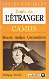img - for E'tuder de L'Etranger (CAMUS) TEXTES EXPLIQUES book / textbook / text book