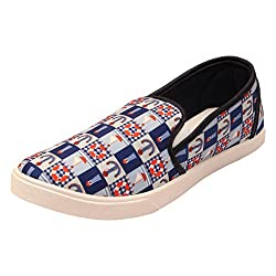 Frestols Stylish & Comfort Look Blue Loafer Shoes For Mens