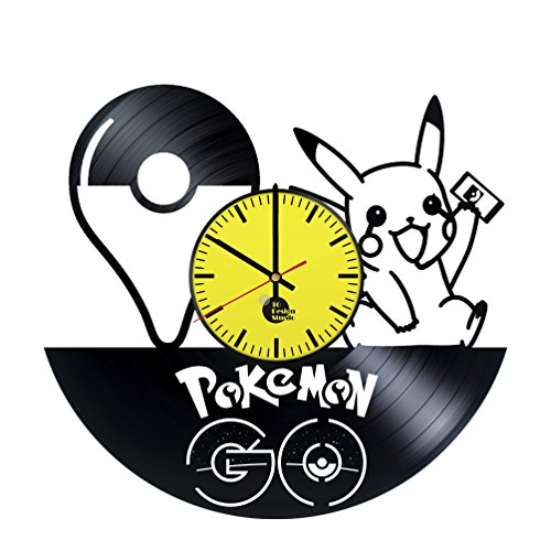 Pokemon Pikachu Vinyl Record Wall Clock