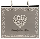 "Malden International Designs Wedding ""Happily Ever After"" Flip Album Picture Frame, 4 by 6-Inch, Silver"