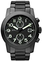 Marc by Marc Jacobs Larry Chronograph Black Dial Black Ion-plated Mens Watch MBM5032.