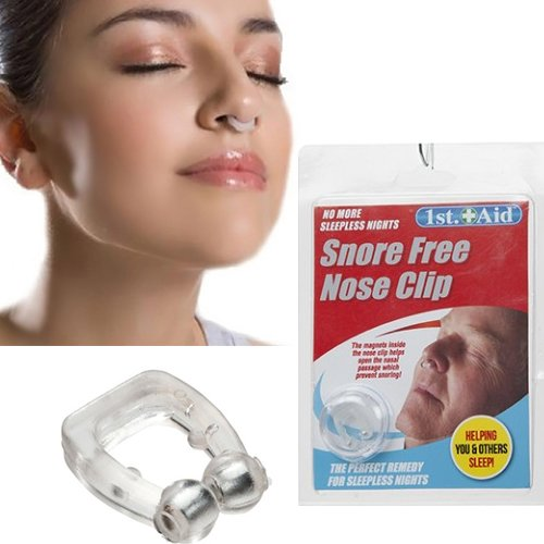 anti-stop-snoring-nose-clip-snore-free-magnetic-silicone-night-sleeping-aid-new