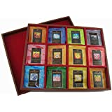 Bentley's Royal Classic Open Top Wooden Tea Chest, 12 Flavor, 120 Tea Bag Set ~ Bentley's