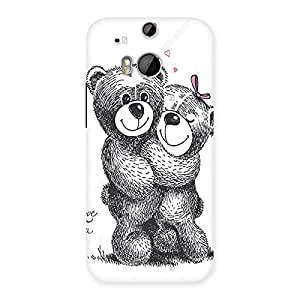 Ajay Enterprises Hung 2 Teddys Back Case Cover for HTC One M8