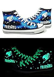 Cosdaddy /Fairy Tail Anime Logo Cosplay Shoes Canvas Shoes (Female-US 8)