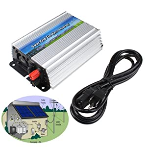 AGPtek 300W Grid Tie Grid-tie Inverter With LED display For Solar Home System MPPT function by MamBate