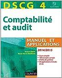 echange, troc Robert Obert, Marie-Pierre Mairesse - DSCG 4 - Comptabilité et audit - 2014/2015 - Manuel et applications
