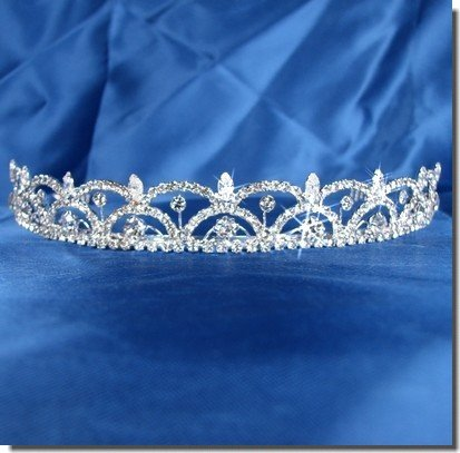 Bridal Tiara With Crystal Arches 55116