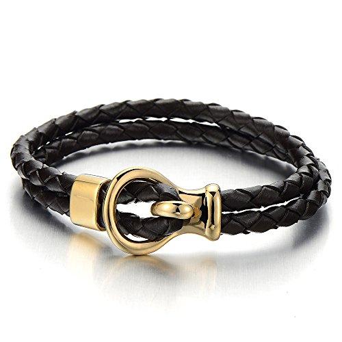 double-brin-bracelet-en-cuir-tresse-homme-femme-noir-veritable-cuir-or-acier-inoxydable-fermeture-bu