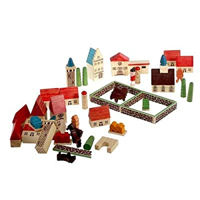 Creative Toys : Childrens Wooden Village Playset in a Bag [Toy]