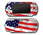American Flag Patriotic Design Video Game Vinyl Decal Skin Sticker Cover for Sony PSP Playstation Portable Original Fat 1000 Series System
