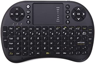 HDE Wireless 2.4GHz Portable Handheld Pocket Multimedia Keyboard Touchpad Mouse for PS3, XBOX, PC, TV Boxes (Black)