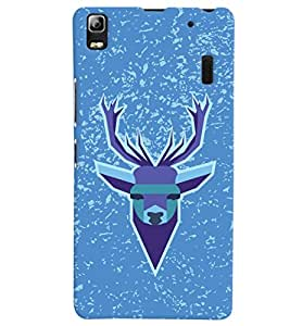 ColourCrust Lenovo A7000 Mobile Phone Back Cover With Animal Design Modern Art - Durable Matte Finish Hard Plastic Slim Case