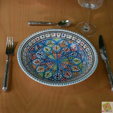 6 assiettes creuses Jileni Royal - Diam 24 cm