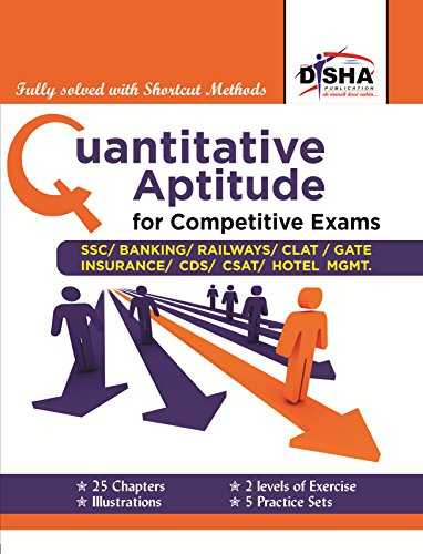 """Quantitative Aptitude for Competitive Exams - SSC/Banking/CLAT/Hotel Mgmt./Rlwys/CDS/GATE """