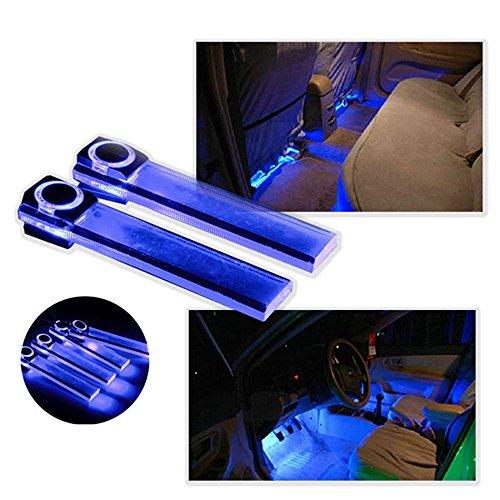 Pesp 12v 4 in 1 LED Car Auto Atmosphere Interior Floor Decorative Light Decoration Lamp Blue