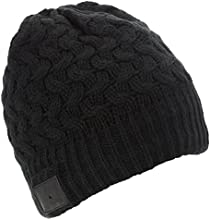 KitSound Bluetooth Audio Beanie Mütze mit Integrierten Kopfhörern für iPod, iPhone, iPad, Smartphone, Tablet und Bluetooth-fähigen MP3 Player - Schwarz