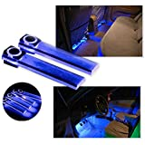 Pesp 12v 4 In 1 LED Car Auto Atmosphere Interior Floor Decorative Light Decoration Lamp Blue