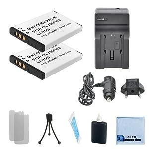2 LI-70B Rechargeable Batteries For Olympus VG-110, VG-120, VG-140, VG-150, VG-160, VR-120, VR-130, VR-140, VR-145 Camera & Car/home Charger + Complete Starter Kit
