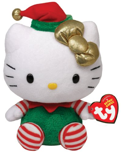 Ty Beanie Babies Hello Kitty - Green Christmas Outfit - 1