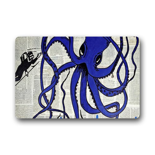 "Anhome Blue Octopus With Big Eyes And Eight Feet Doormats 23.6""X 15.7"" front-887148"