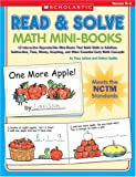 img - for Read & Solve Math Mini-Books: 12 Interactive Reproducible Mini-Books That Build Skills in Addition, Subtraction, Time, Money, Graphing, and Other Essential Early Math Concepts book / textbook / text book