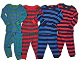 "Leveret Kids ""Boy"" Striped 2 Piece Pajama Set 100% Cotton (Size 5-14 Years)"