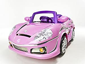 Pink Color Ride On Car 6V Power New Wheels RC Remote Control