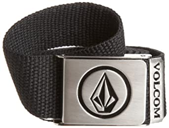 Volcom Men's Circle Stone Webbing Belt, Black, One Size
