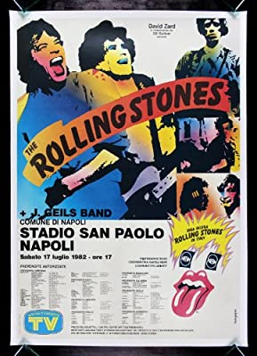 ROLLING STONES * CineMasterpieces 1982 ORIGINAL ITALIAN TOUR MUSIC ROCK POSTER