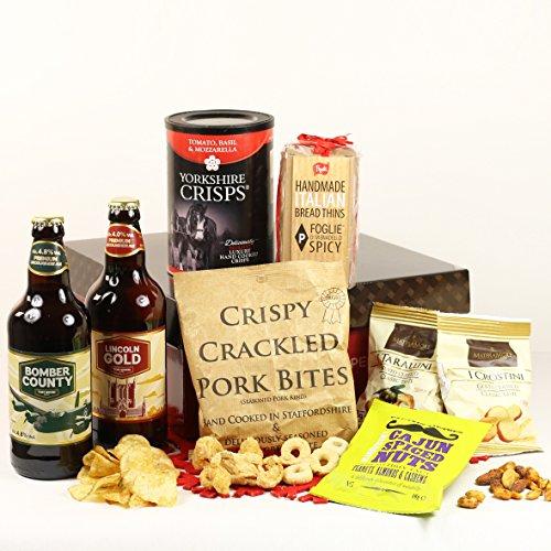 Craft Beer & Bar Snacks Hamper Gift Box