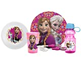 Zak! Designs 6-Piece Mealtime Set with Anna, Elsa & Olaf from Frozen; BPA-Free