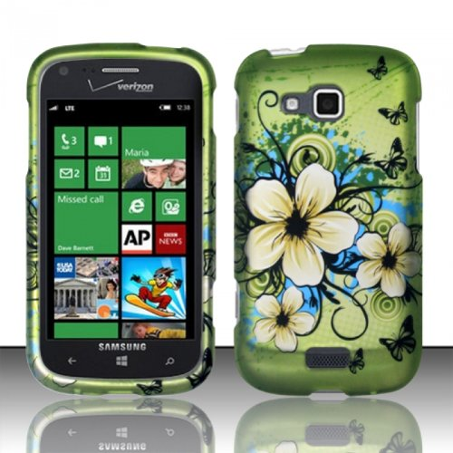 Click to buy Green Hawaiian Flower Hard Cover Case for Samsung Ativ Odyssey i930 by ApexGears - From only $15.99