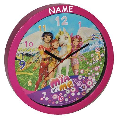 Wanduhr Mia and Me – incl. Name – 30,5 cm groß Uhr – Kinderzimmer Einhorn Kinderuhr – analog Feen Pferde Yuko Mo Omchao Mädchen kaufen