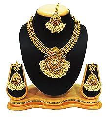 SatyamJewelleryNx Traditional Pearl Necklace Set For Women Fashion Jewellery (Wedding Season)
