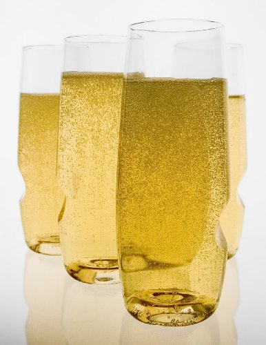 Find Bargain Govino Go Anywhere Champagne Flute, 8-Ounce, 4-Pack Tote