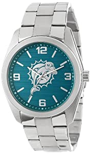 Game Time Unisex NFL-ELI-MIA Elite Miami Dolphins 3-Hand Analog Watch by Game Time