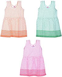 Amy Girls' Dress (S33_A_5-6 Years, 5-6 Years) - Special Offer with Free Shipping - 100% Cotton Exclusive Kidswear