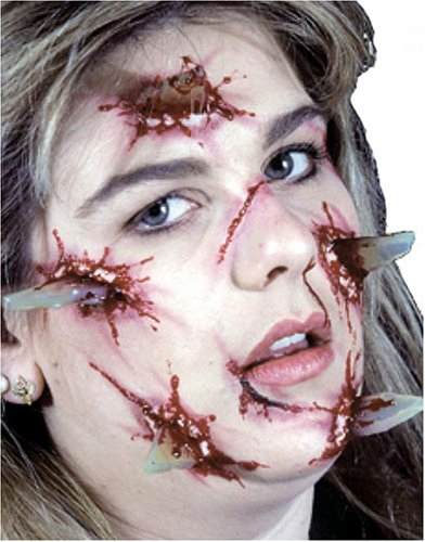 EZFX Bloody Glass Attack Makeup and Prosthetic Costume Kit
