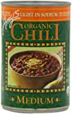 Amy's Light in Sodium Organic Medium Chili, 14.7-Ounce Cans (Pack of 12)