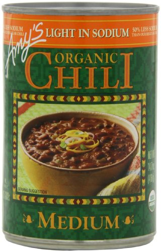 Amy's Light in Sodium Organic Medium Chili, 14.7-Ounce Cans (Pack of 12) (Amy Organic Chili compare prices)