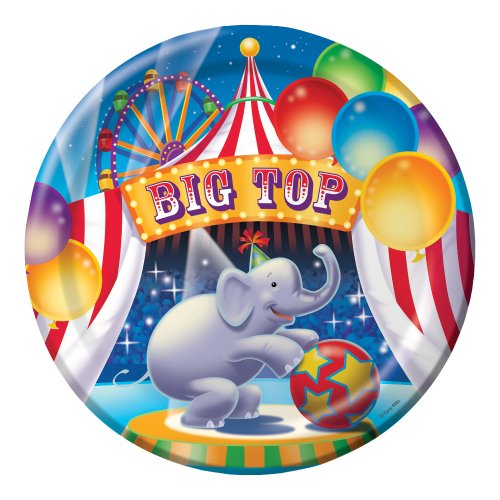 Creative Converting Big Top Birthday 8 Count Paper Dinner Plates