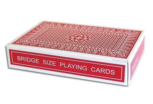 Magic Red Stripper Deck - Bridge Size - Perfect for Smaller Hands - Fits in Your Pocket with Ease - Includes Instructions