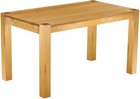 brasilm oebel® Tavolo da pranzo Rio Kanto in 27misure e 45colori in 1215varianti in pino massiccio-vero legno con 33mm foderata piastre-massiccio in economia forestale sostenibile-Tavolo per