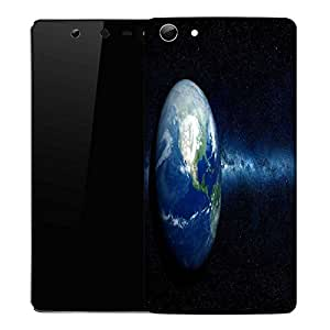Snoogg earth north america Designer Protective Back Case Cover For Micromax Canvas Selfie Q348